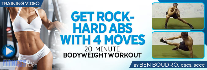 Get Rock-Hard Abs with 4 Moves