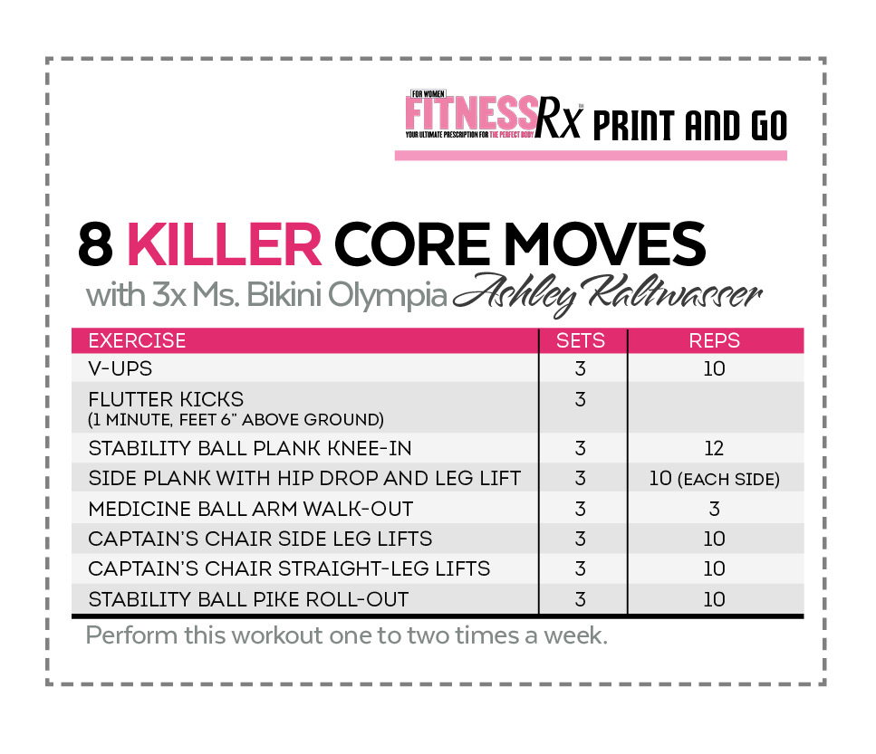 8 Killer Core Moves - With Ashley Kaltwasser