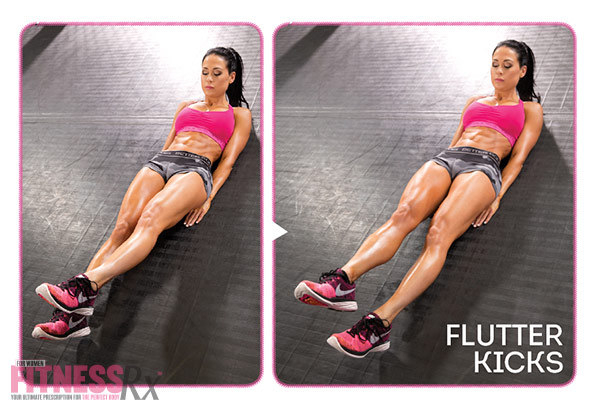 8 Killer Core Moves - With Ashley Kaltwasser - Flutter kicks