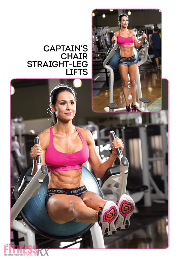 8 Killer Core Moves - With Ashley Kaltwasser - Captain's chair straight-leg lifts