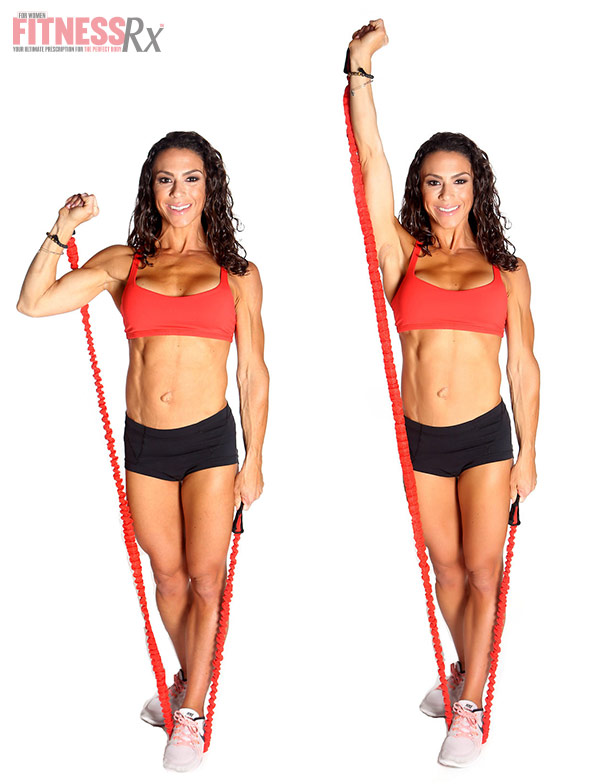 New Year Full-Body Circuit - At-Home Workout for Busy Days - Band Single Shoulder Press