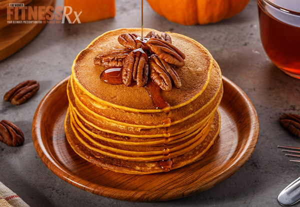 Orange Pecan Pumpkin Pancakes