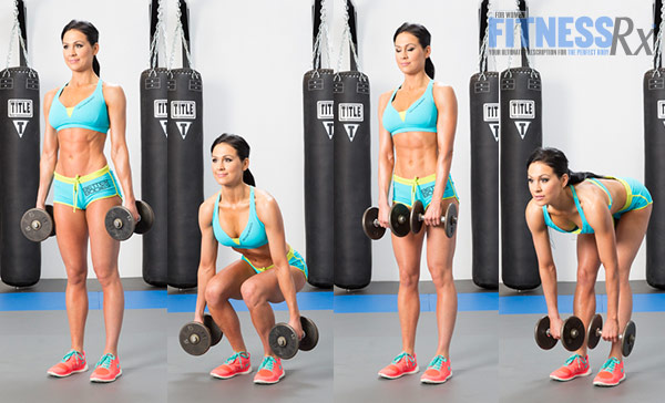Get Sculpted Legs With Combination Exercises - Dumbbell Squat + Romanian Deadlift Combo