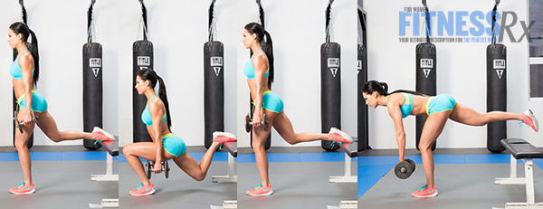 Get Sculpted Legs With Combination Exercises - Dumbbell Bulgarian Split Squat + Single-leg Romanian Deadlift Combo