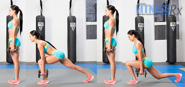 Get Sculpted Legs With Combination Exercises - Dumbbell Reverse Lunge + Anterior Lunge Combo