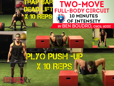 Two-Move Full-Body Circuit - 10 Minutes of Intensity