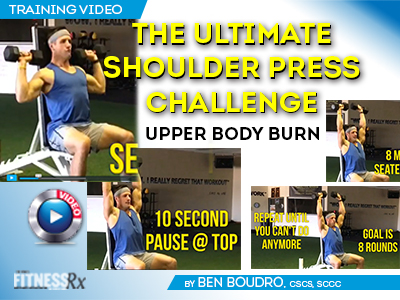 The Ultimate Shoulder Press Challenge - Upper Body Burn