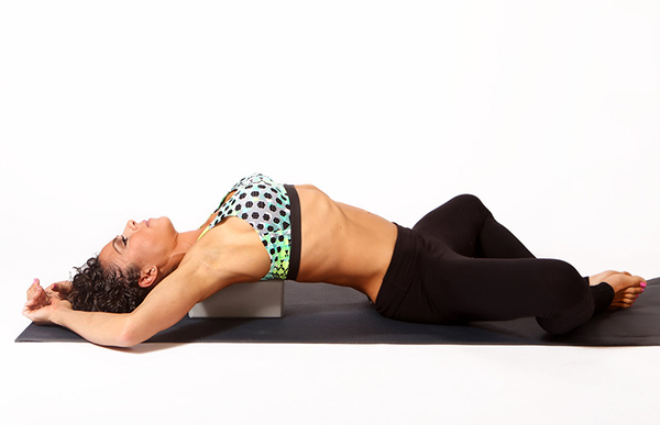 Chest Opener, Lying on Yoga Block