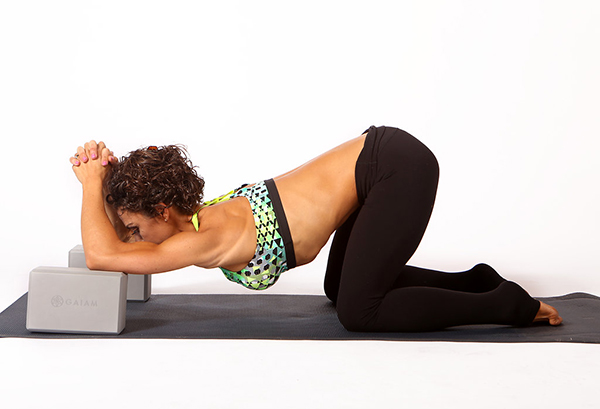 Forward Fold off Yoga Blocks