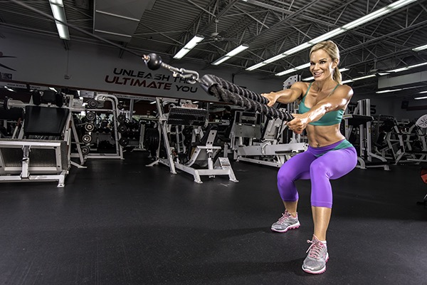 Michele Levesque-Presciano's Leg and Glute Blast Workout - WAlking Squats WIth Cable Resistance