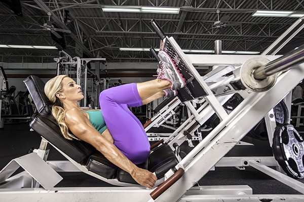 Michele Levesque-Presciano's Leg and Glute Blast Workout - Leg Press
