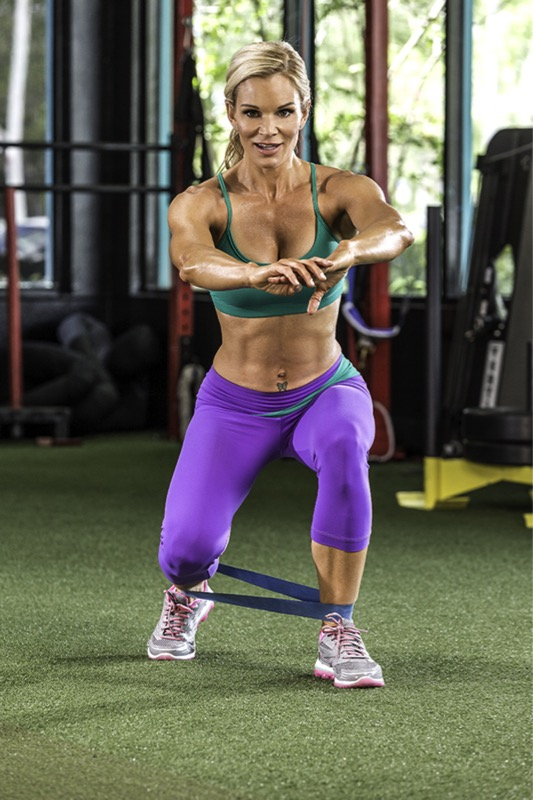 Michele Levesque-Presciano's Leg and Glute Blast Workout - Band Squat Walk