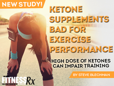 Ketone Supplements Bad for Exercise Performance - High Dose of Ketones Can Impair Training