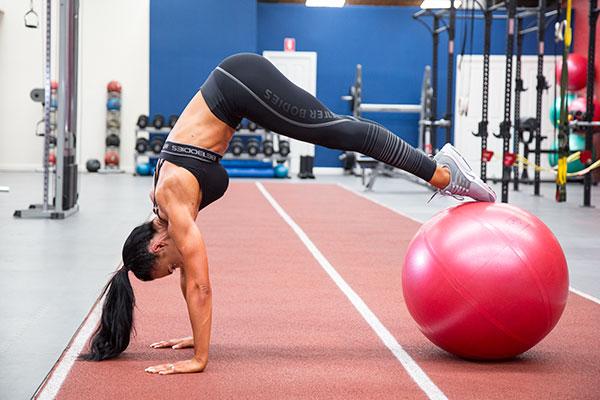 Shannah Baker - Stability Ball Plank Pike-up
