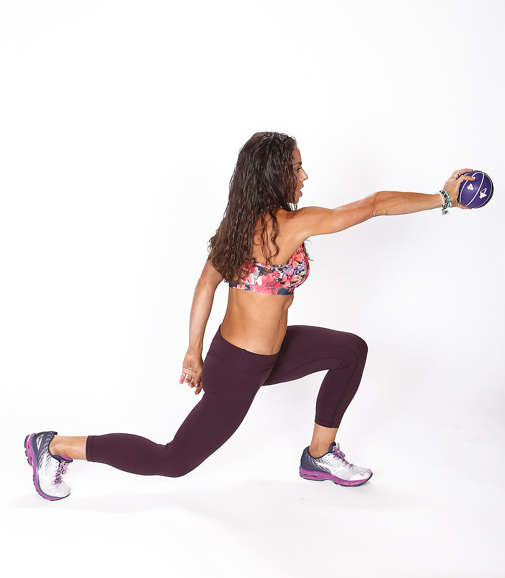 Pendulum Lunge With Medicine Ball*