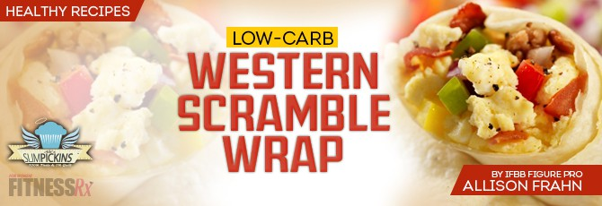 Low-Carb Western Scramble Wrap