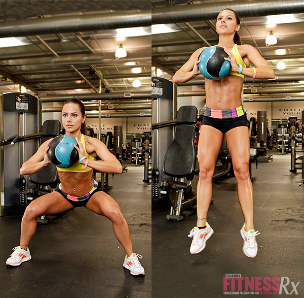 Strong & Shapely Glutes - Jump squats