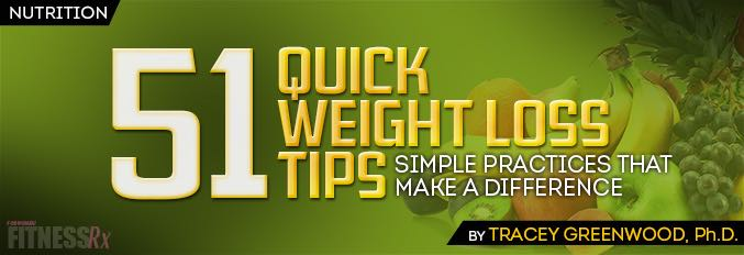 51 Quick Weight Loss Tips