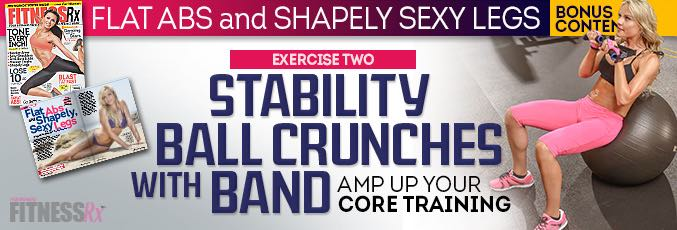 Stability Ball Crunches with Band