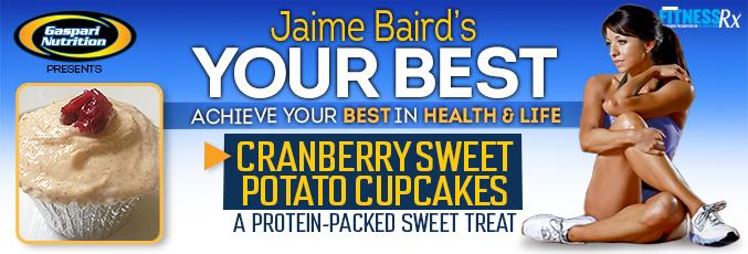 Cranberry Sweet Potato Cupcakes