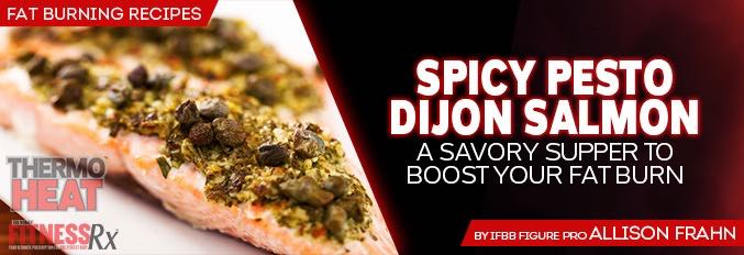 Spicy Pesto Dijon Salmon