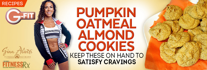 Pumpkin Oatmeal Almond Cookies