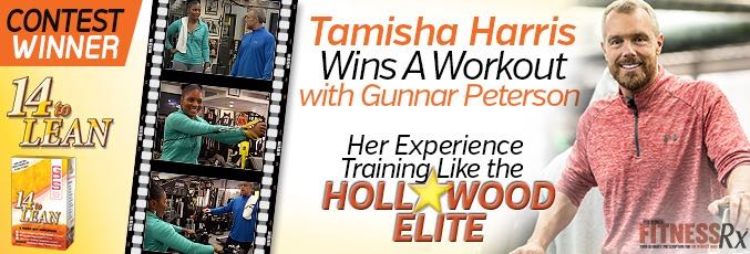 Tamisha Harris Wins A Workout With Gunnar Peterson