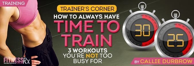 How To Always Have Time To Train