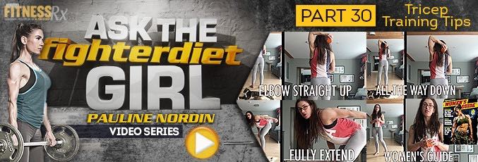 Ask The Fighter Diet Girl Pauline Nordin – Video 30