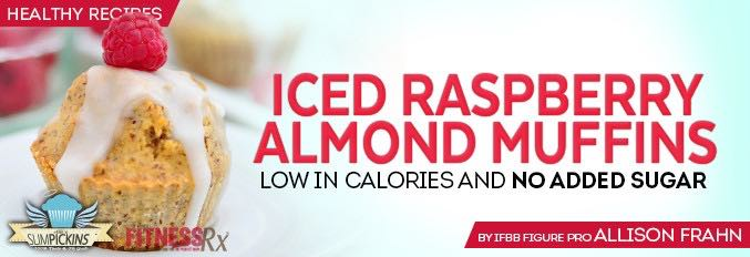 Iced Raspberry Almond Muffins