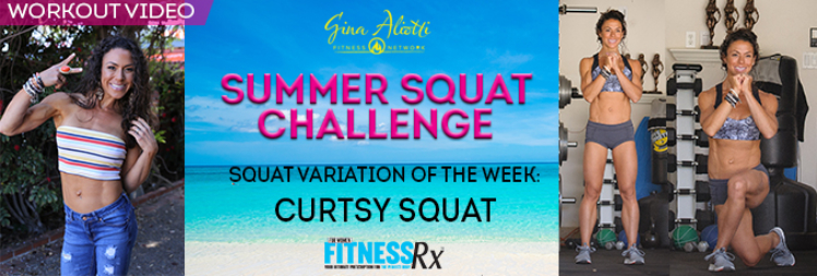 Summer Squat Challenge-Curtsy Squat