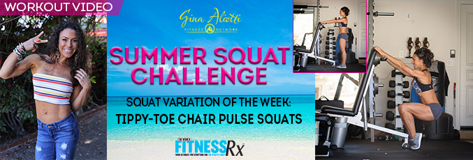 Summer Squat Challenge-Tippy Toe Chair Pusle squats