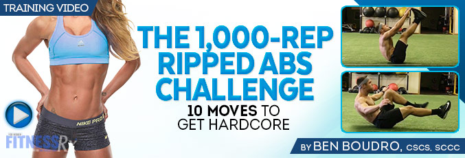 The 1,000-Rep Ripped Abs Challenge