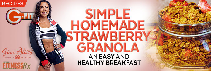Simple Homemade Strawberry Granola