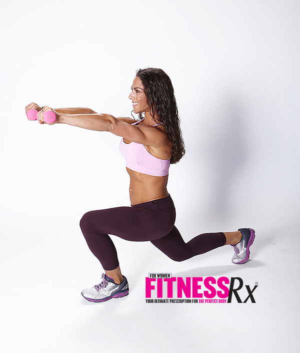Alternating Front Lunges With Front Raises