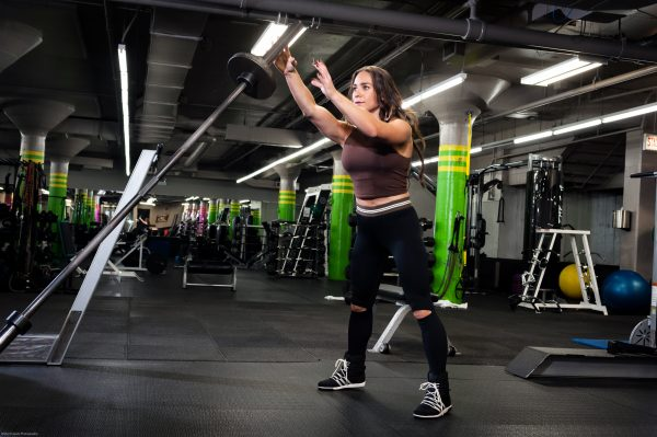 Alternating Two-Arm Press and Throw